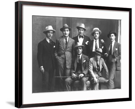 Group Portrait of Journalists from Popolo Di Trieste-Carlo Wulz-Framed Art Print