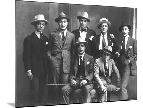 Group Portrait of Journalists from Popolo Di Trieste-Carlo Wulz-Mounted Photographic Print