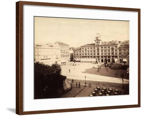 View of the Town Hall in Trieste-Giuseppe Wulz-Framed Art Print