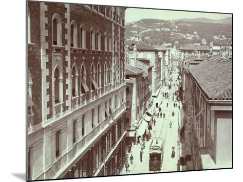 Aerial View of Via St. Antonio, in Trieste, with the Hill of Scorcola-Giuseppe Wulz-Mounted Photographic Print