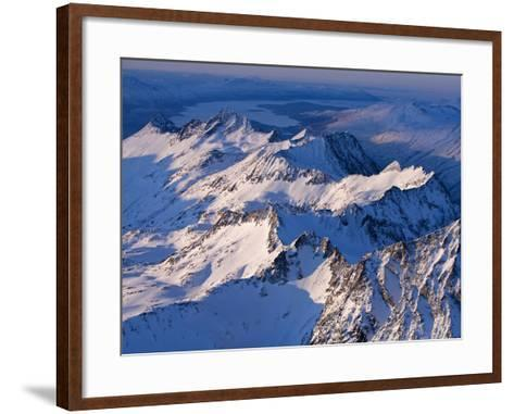 Morning Light on the Chigmit Mountains, a Subrange of the Aleutians.-Ian Shive-Framed Art Print