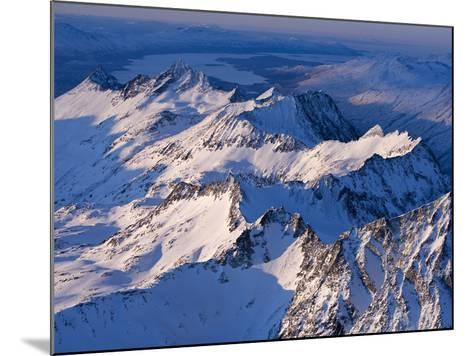 Morning Light on the Chigmit Mountains, a Subrange of the Aleutians.-Ian Shive-Mounted Photographic Print