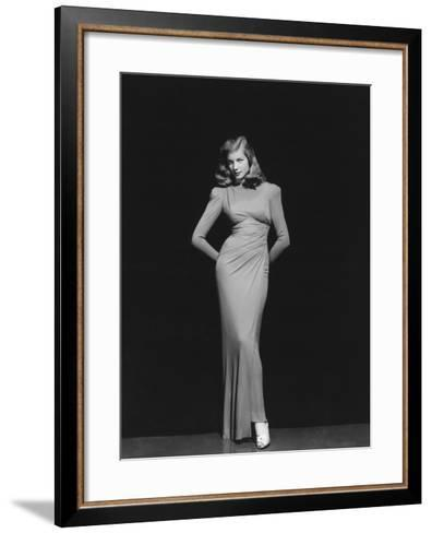 Lauren Bacall, 1944--Framed Art Print