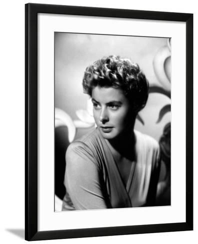 "Ingrid Bergman. ""For Whom the Bell Tolls"" 1943, Directed by Sam Wood--Framed Art Print"