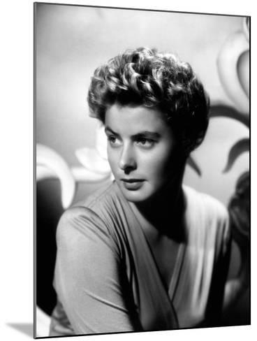 """Ingrid Bergman. """"For Whom the Bell Tolls"""" 1943, Directed by Sam Wood--Mounted Photographic Print"""