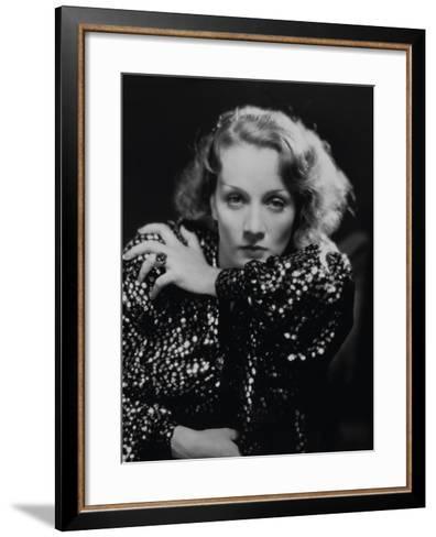 """Marlene Dietrich. """"Shanghai Express"""" 1932, Directed by Josef Von Sternberg--Framed Art Print"""