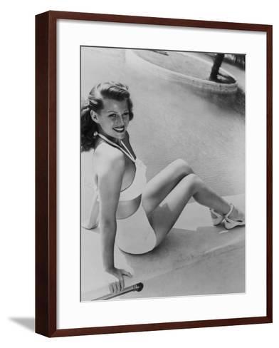 Rita Hayworth, 1945--Framed Art Print