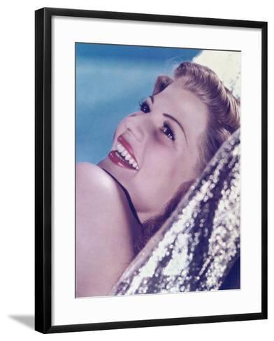 Rita Hayworth--Framed Art Print