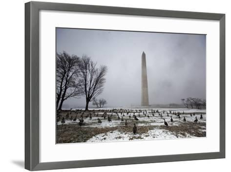 The National Mall Covered in Snow, Washington, DC, USA-Jim Lo Scalzo-Framed Art Print