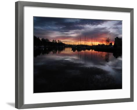 The Sun Rises over English Bay as Seen from Stanley Park, Vancouver, Canada-Kim Ludbrook-Framed Art Print