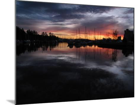 The Sun Rises over English Bay as Seen from Stanley Park, Vancouver, Canada-Kim Ludbrook-Mounted Photographic Print