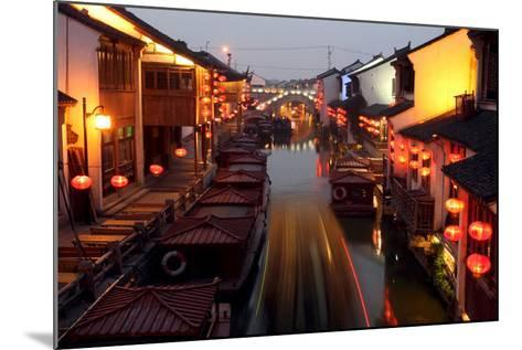 Canals of Suzhou as 'Venice of the East'-Michael Reynolds-Mounted Photographic Print