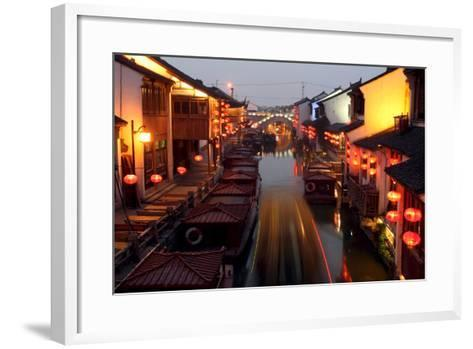 Canals of Suzhou as 'Venice of the East'-Michael Reynolds-Framed Art Print