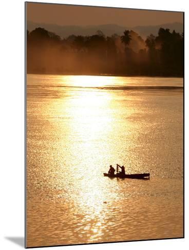 Fishermen in the Mekong River in Laos-Barbara Walton-Mounted Photographic Print