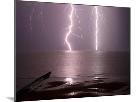 Lightning Strikes the Sea-Olivier Matthys-Mounted Photographic Print