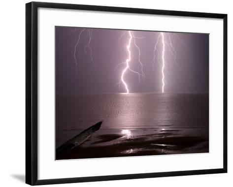 Lightning Strikes the Sea-Olivier Matthys-Framed Art Print