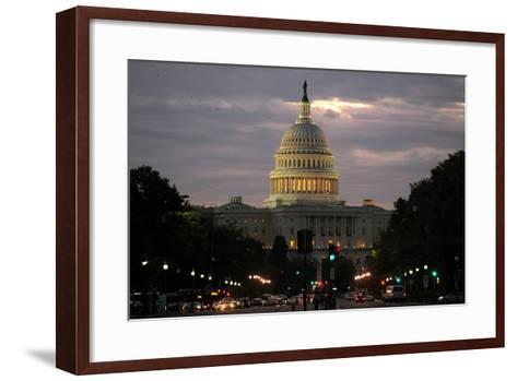 The West Front of the Us Capitol Building in Washington DC, USA-Michael Reynolds-Framed Art Print