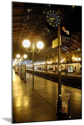 The Deserted Gare Du Nord Railway Station in Paris, France-Yoan Valat-Mounted Photographic Print