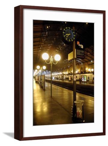 The Deserted Gare Du Nord Railway Station in Paris, France-Yoan Valat-Framed Art Print