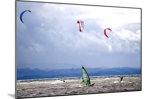 Wind and Kite Surfer Use the Trough of Low Pressure 'Emma' at the Lake Constance-Dietmar Stiplovsek-Mounted Photographic Print