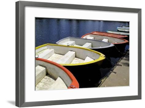 Rowing Boats for Hire-Kim Ludbrook-Framed Art Print