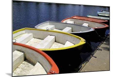 Rowing Boats for Hire-Kim Ludbrook-Mounted Photographic Print