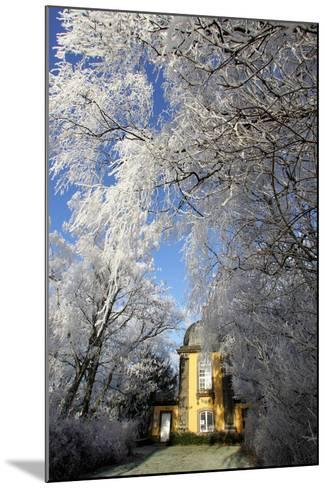 Pavillion in Winter Scenery-Peter Steffen-Mounted Photographic Print