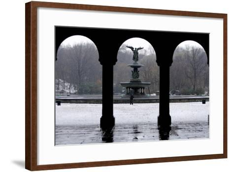 Freezing Rain and Snow in New York City-Peter Foley-Framed Art Print