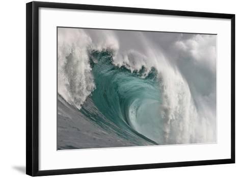 A Wave Breaking in the Atlantic Ocean-Nic Bothma-Framed Art Print