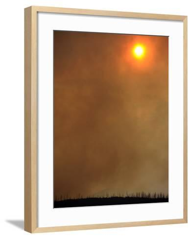 The Sun Is Blocked by Smoke Filling the Skies While the Las Conchas Fires Burn Near Los Alamos-Larry W. Smith-Framed Art Print