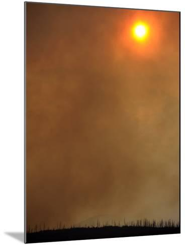 The Sun Is Blocked by Smoke Filling the Skies While the Las Conchas Fires Burn Near Los Alamos-Larry W. Smith-Mounted Photographic Print