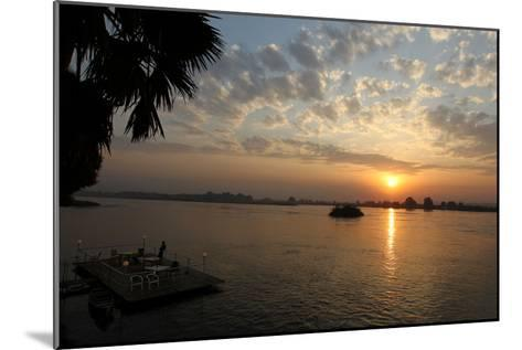 The Sun Rises Behind the Nile River in Juba, Southern Sudan-Mohamed Messara-Mounted Photographic Print