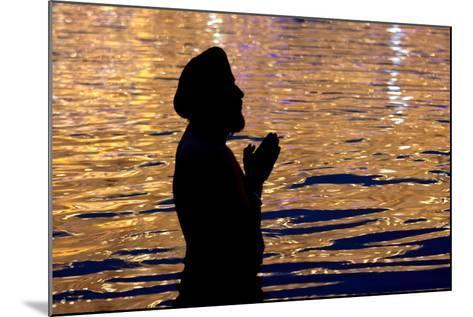 A Sikh Devotee Prays-Raminder Pal Singh-Mounted Photographic Print