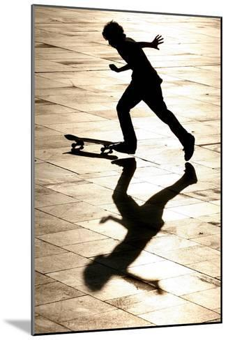 A Skateboarder Takes Advantage of a Sunny and Warm Day-Andrzej Grygiel-Mounted Photographic Print