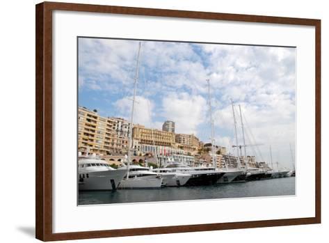 Monaco Yacht Show--Framed Art Print