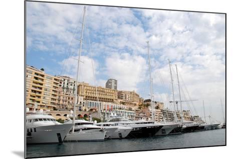 Monaco Yacht Show--Mounted Photographic Print
