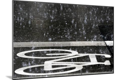 Rain Pours onto a Bicycle Lane-Maurizio Gambarini-Mounted Photographic Print