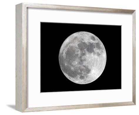 View of a Full Perigee Moon over Manila-Dennis M. Sabangan-Framed Art Print