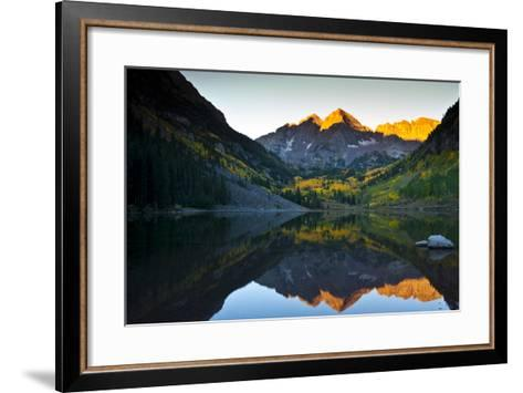 Gorgeous Fall Sunrise at Maroon Bells, Aspen, Colorado-Brad Beck-Framed Art Print