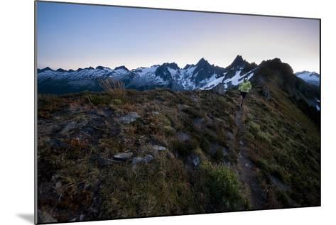 Trail Running in the North Cascades, Washington-Steven Gnam-Mounted Photographic Print