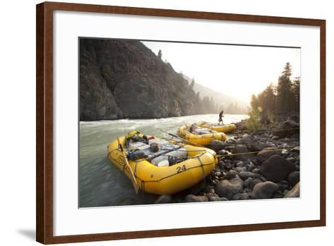 Whitewater Rafting on the Chilko River. British Columbia, Canada-Justin Bailie-Framed Art Print
