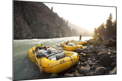 Whitewater Rafting on the Chilko River. British Columbia, Canada-Justin Bailie-Mounted Photographic Print