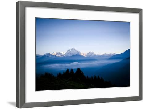 Dhaulagiri, an 8000 Meter Peak in the Morning Sun, Poon Hill, Annapurna Circuit, Ghorepani, Nepal-Dan Holz-Framed Art Print