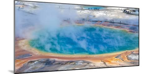 Yellowstone, Wyoming: an Overhead View of the Grand Prismatic Geyser-Brad Beck-Mounted Photographic Print