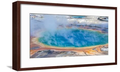 Yellowstone, Wyoming: an Overhead View of the Grand Prismatic Geyser-Brad Beck-Framed Art Print