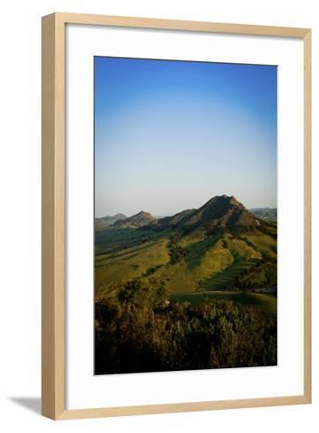 A Sunrise Hike Up Maddona Mountain with Beautiful Views of San Luis Obispo, California-Daniel Kuras-Framed Art Print