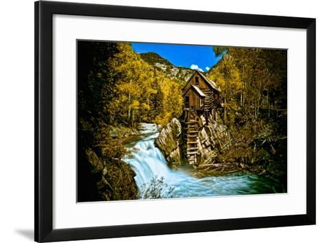 Crystal Mill Is an Old Ghost Town High Up in the Hills of the Maroon Bells, Colorado-Brad Beck-Framed Art Print