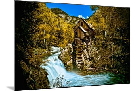 Crystal Mill Is an Old Ghost Town High Up in the Hills of the Maroon Bells, Colorado-Brad Beck-Mounted Photographic Print
