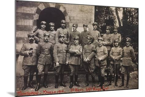 Free State of Verhovac-July 1916: Soldiers of the Third Battalion 69th Infantry Regiment--Mounted Photographic Print