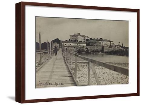 View of Gradisca on the River Isonzo--Framed Art Print